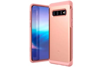 ZUSLAB Galaxy S10 Hybrid Shield Case Shockproof with Built in Soft TPU Rubber Cover for Samsung - Rose Gold