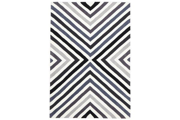 Cross Roads Design Rug Charcoal Grey 280x190cm