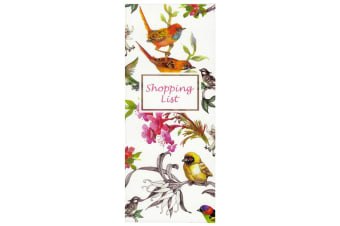 Scribbles Stationery Watercolour Birds Shopping List Notepad