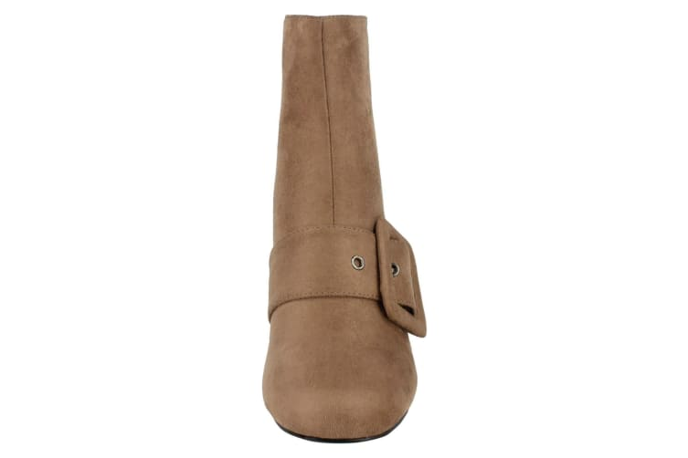 Spot On Womens/Ladies Blocked Heel Ankle Boots (Taupe) (UK 5)