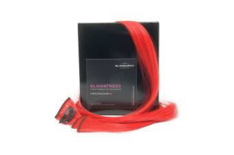 Glamourati Glamatress Mane And Tail Extensions (Pack Of 5) (Firecracker Red) (50 x 3.2cm)
