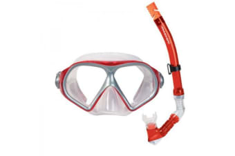 Hammerhead Reef Mask and Snorkel Set Red