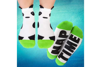 "Silly Soles ""Nap Time"" Panda Socks 