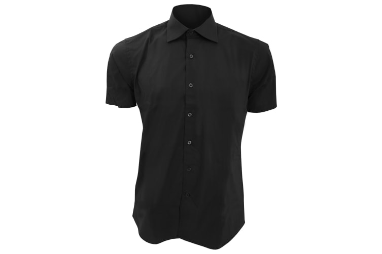SOLS Mens Broadway Short Sleeve Fitted Work Shirt (Black) (S)