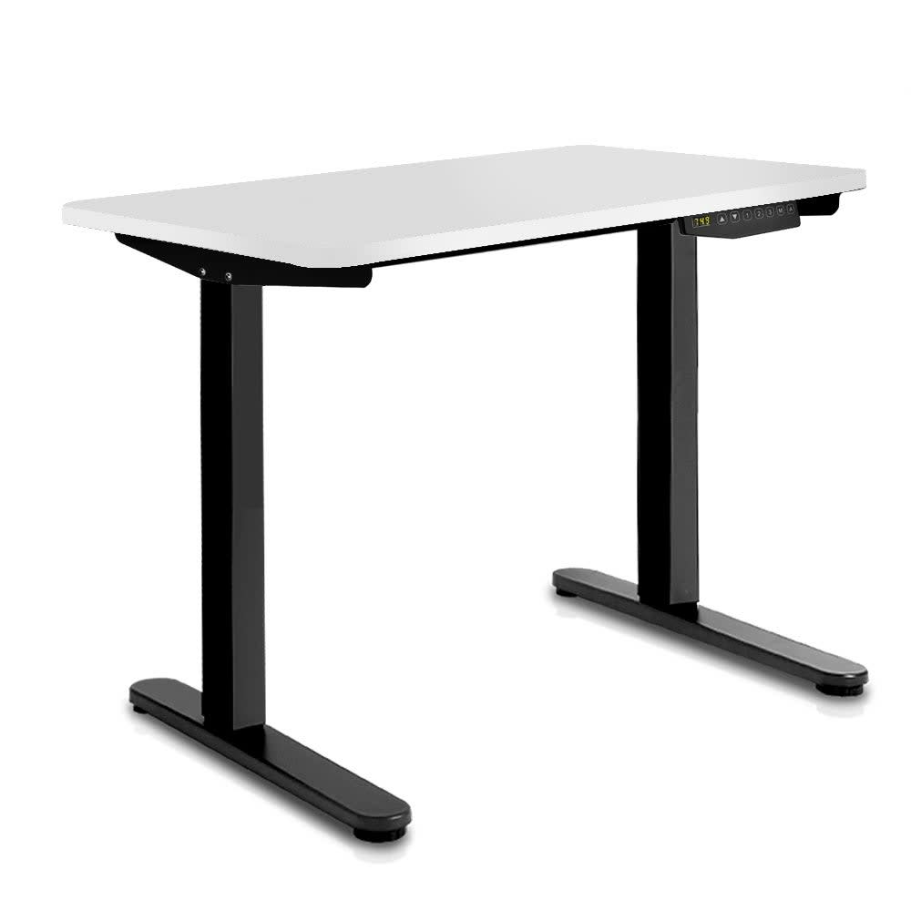 Image of 100CM Motorised Height Adjustable Sit Stand Desk (White/Black)
