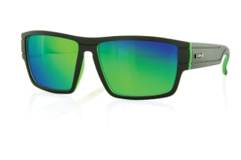 Carve Sublime Matt Black /Greeniridium Unisex Sunglasses
