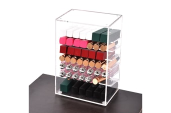 Acrylic Lipstick Tower Stand Cosmetic Makeup Holder Organizer Display Storage