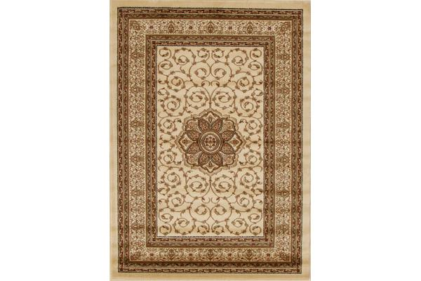 Medallion Classic Pattern Rug Ivory 290x200cm