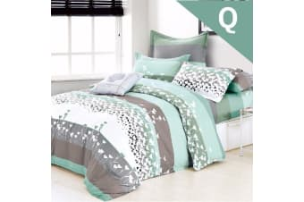 Queen Size FALL IN LOVE Design Quilt Cover Set