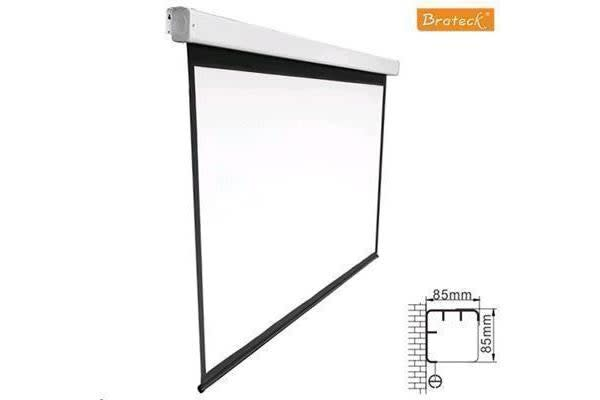 "Brateck PSAA135 Motorised 135"" Electric 16:9 Projector Screen (3m x 1.68m)  ratio w/RF remote"