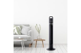 Tower Fan With Remote 80cm 32 Oscillating Timer Portable Fans Bladeless Black