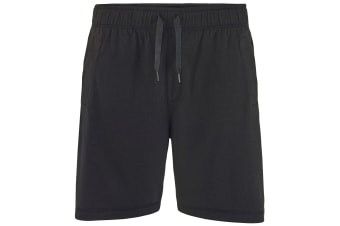Comfy Co Mens Elasticated Lounge Shorts (Black)