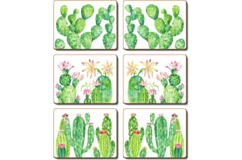 Cinnamon Cacti Garden Placemat Set of 6