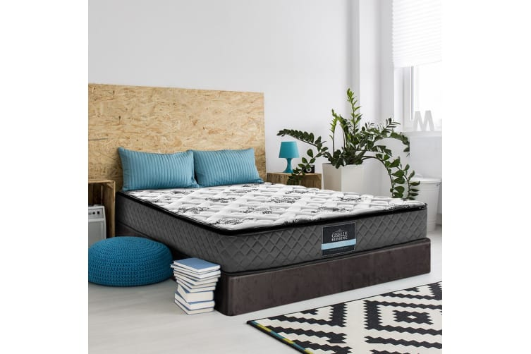 Giselle KING Size Mattress Bed Pillow Top Firm Foam Bonnell Spring 24CM