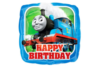 Anagram Thomas The Tank Engine 18 Inch Square Foil Balloon (Blue) (One Size)