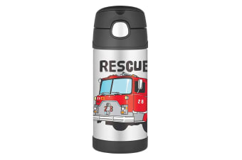Thermos Funtainer 355ml Insulated Stainless Steel Water Drink Bottle Fire Truck