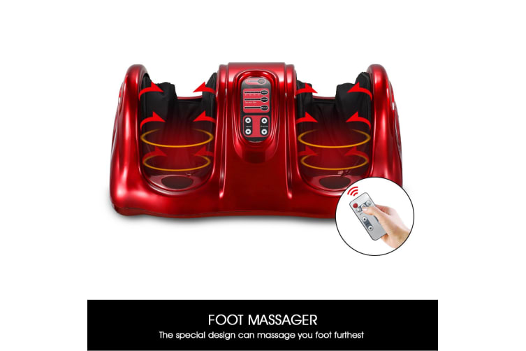 Premium Foot Massager Ankle Calf Massage Machine – Red