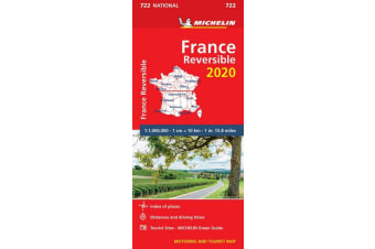 France - reversible 2020 - Michelin National Map 722 - Map