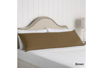 100% Cotton Body Pillowcase Brown by Artex