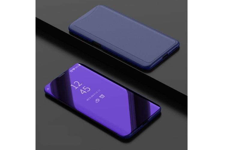 Mirror Cover Electroplate Clear Smart Kickstand For Oppo Series Purple Oppo R17Plus