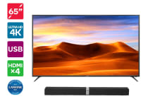 "Kogan 65"" 4K LED TV (Series 8 JU8000) with Premium Soundbar"