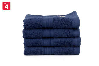 Onkaparinga Ultimate 100% Turkish Cotton Face Washer Set of 4 (Midnight)