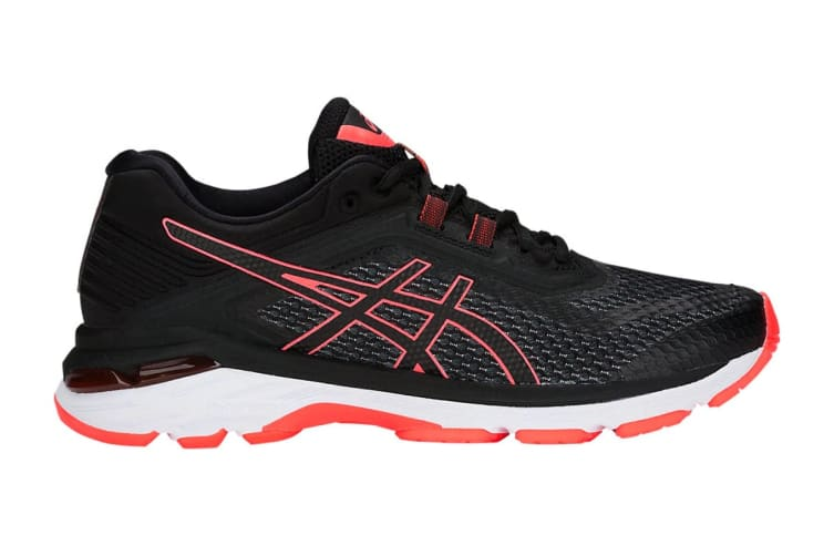 ASICS Women's GT-2000 6 Running Shoe (Black/Flash Coral Size 7)