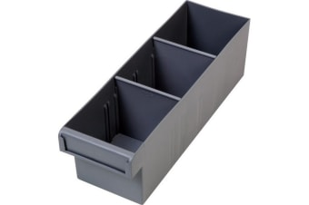 Grey 300Mm Medium Parts Tray Storage Drawer With Dividers