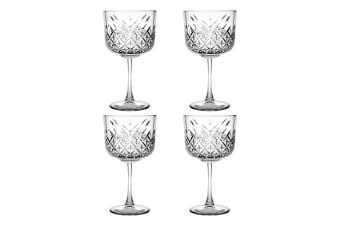 4pc Pasabahce Timeless 500ml Clear Gin & Tonic Wine Glasses Party Alcohol Glass