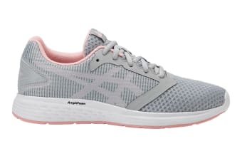 ASICS Women's Patriot 10 Running Shoe (Mid Grey/Frosted Rose, Size 10)