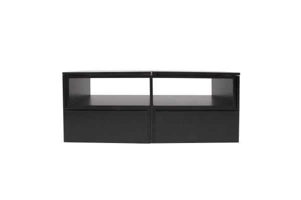 TV Stand Entertainment Unit Adjustable Cabinet (Black)