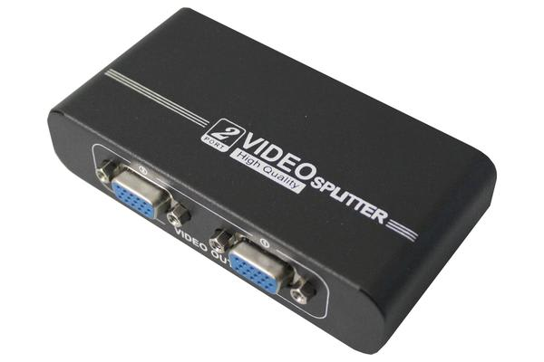 1 To 2 Port Vga Splitter High Resolution Support 1920 X 1440 550Mhz Video 102A
