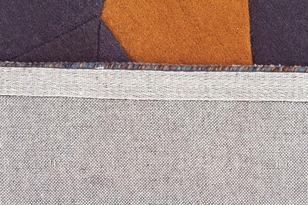 Laura Designer Wool Rug Blue Yellow Grey 400x80cm