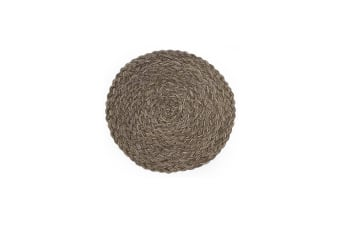 Woven Round Dining Table Mat Insulation Anti-Slip Placemats Coaster Coffee