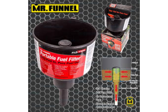 MR FUNNEL PORTABLE FUEL FILTER REMOVES WATER PETROL MOWER BOAT CAR ENGINE F3C