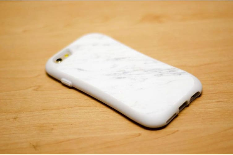 For iPhone 6 6S Case White Plated Marble Customized Case