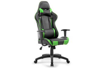 Black and Green PU Leather Computer Office Removable Chair with PU Armrest