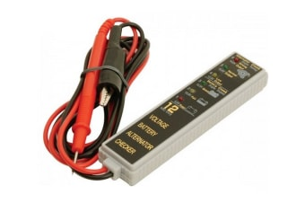 Watersnake 12 Volt Battery Meter with LED Display - Built In Alternator Checker