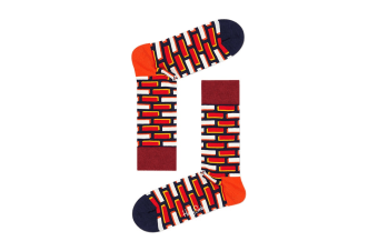 Happy Socks Brick Sock (Blue/Orange/White, Size 41-46)