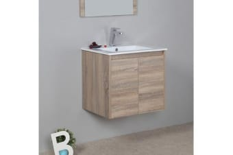 Aulic Wall Hung Bathroom 600mm Vanity Cabinet Ceramic Top with undermount basin