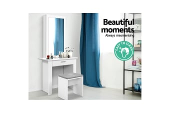 Dressing Table Mirror Stool Mirror Jewellery Cabinet Storage Desk