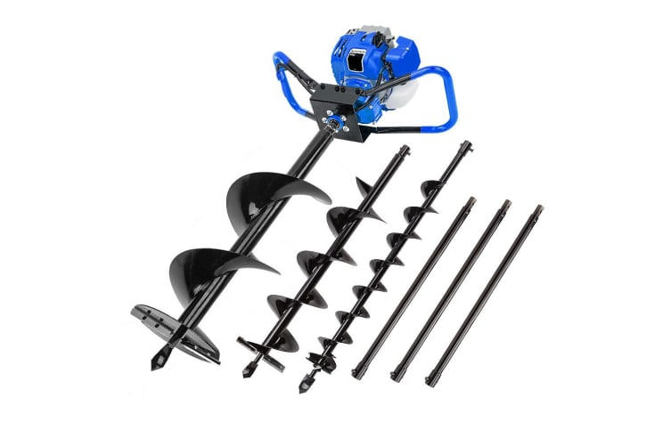 POWERBLADE Post Hole Digger 75CC Posthole Earth Auger Fence Borer Petrol Drill
