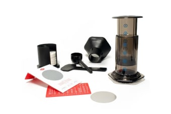 Aerobie Aeropress Coffee Maker System In A Box + Able Fine Disk Filter