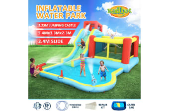 All In 1 Inflatable Water Park Water Slide Cannon Climbing Bouncer Castle