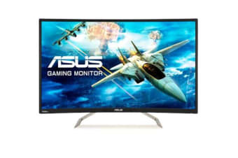 "ASUS VA326H Gaming Monitor – 31.5"" FHD (1920x1080), 144Hz, Curved, Flicker free, Low Blue Light"