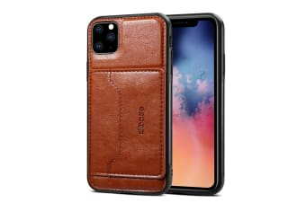 For iPhone 11 Pro Max Dibase TPU + PC + PU Wild Horse Texture Protective Case Wallet  Brown