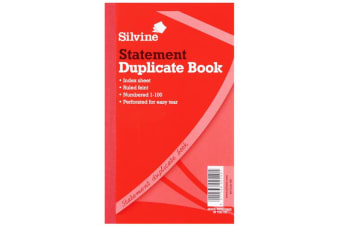 Silvine Duplicate Large Feint 200 Sheets Statement Book (Pack Of 6) (White) (One Size)