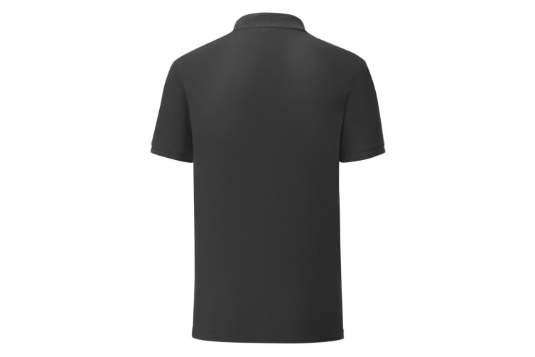 Fruit Of The Loom Mens Iconic Pique Polo Shirt (Black) (S)