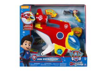 Paw Patrol Sea Patrol Sub Patroller Ryder Transforming Vehicle and Figure