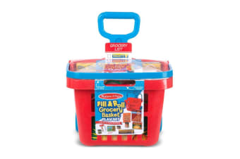 Melissa and Doug Fill and Roll Grocery Basket Playset